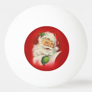 Vintage Santa Claus Christmas Ping Pong Ball