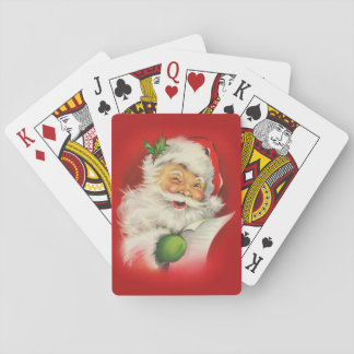 Vintage Santa Claus Christmas Playing Cards
