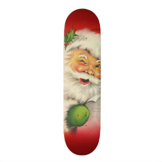 Vintage Santa Claus Christmas Skate Boards
