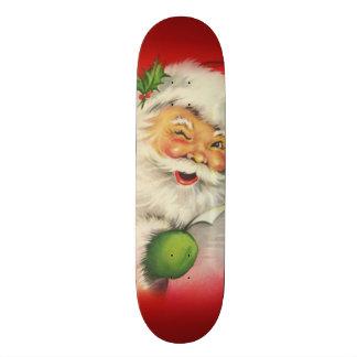 Vintage Santa Claus Christmas Skateboard
