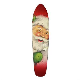 Vintage Santa Claus Christmas Skateboard Deck