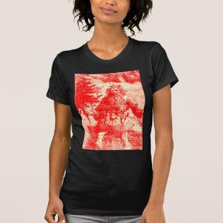 Vintage Santa Claus Colonial  Christmas Toile T-Shirt
