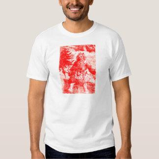 Vintage Santa Claus Colonial Toile Pattern Shirts