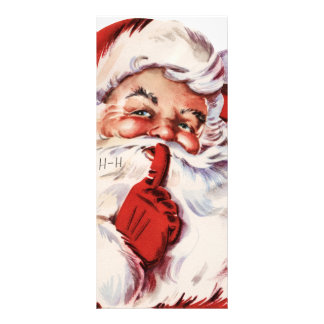 Vintage Santa Claus illustration Personalized Rack Card