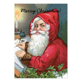 Vintage Santa Claus Image Gift Tag Business Card Templates