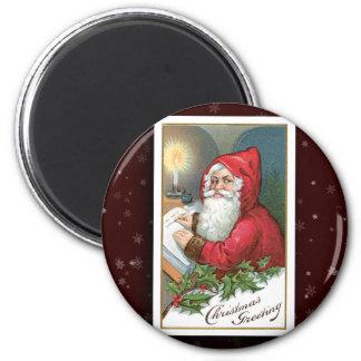 Vintage Santa Claus Image Magnet