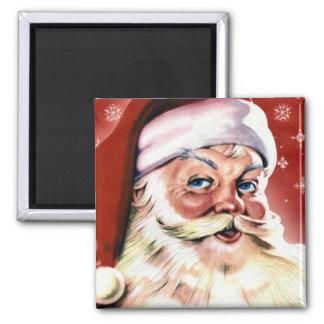 Vintage Santa Claus Square Magnet