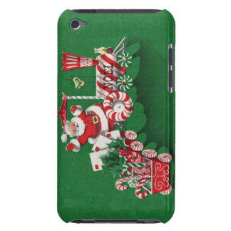 Vintage Santa Claus Peppermint Candy Train Barely There iPod Cases