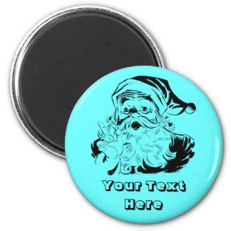 Vintage Santa Claus Portrait Shaking Finger 6 Cm Round Magnet