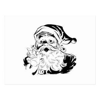 Vintage Santa Claus Portrait Shaking Finger Postcard