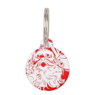 Vintage Santa Claus Sketch Pet ID Tag