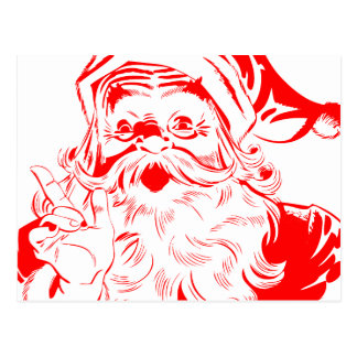 Vintage Santa Claus Sketch Postcard