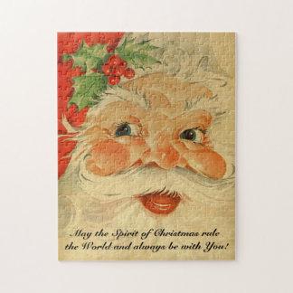 Vintage Santa Claus St. Nickolas Holiday Jigsaw Puzzle