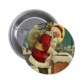 Vintage Santa Claus Toys Christmas 6 Cm Round Badge