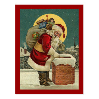 Vintage Santa Claus Toys Christmas Postcard