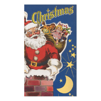Vintage Santa Claus, Twas Night Before Christmas Business Cards