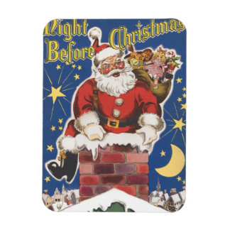 Vintage Santa Claus, Twas Night Before Christmas Rectangular Magnets