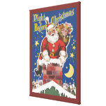 Vintage Santa Claus, Twas Night Before Christmas Gallery Wrapped Canvas