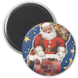 Vintage Santa Claus, Twas Night Before Christmas Refrigerator Magnets