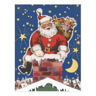 Vintage Santa Claus, Twas Night Before Christmas Postcard