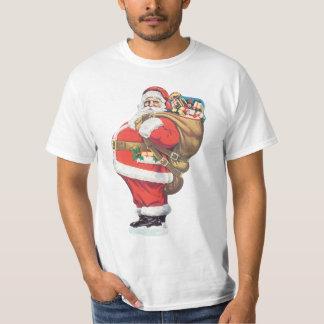 Vintage Santa Claus, Victorian Christmas die cut T-Shirt
