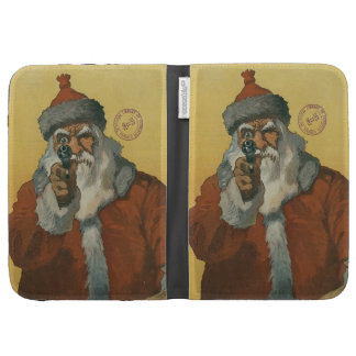 Vintage Santa Claus with a Gun Kindle 3 Covers
