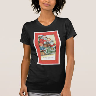 Vintage Santa Claus with Baby on his lap T Shirt