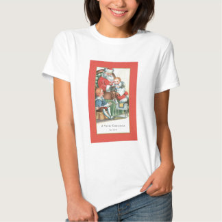 Vintage Santa Claus with Baby on his lap Tshirt
