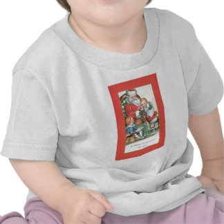 Vintage Santa Claus with Baby on his lap T Shirts