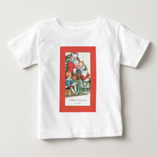 Vintage Santa Claus with Baby on his lap Tshirts