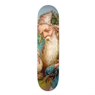 Vintage Santa Claus with Naughty Girl 20 Cm Skateboard Deck