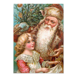 Vintage Santa Claus with Nice Girl Card