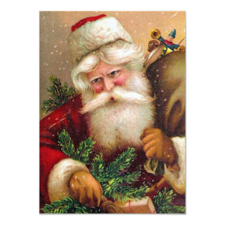 Vintage Santa Claus with Sack full of Toys Announcement