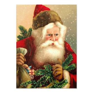 Vintage Santa Claus with Toys 2 11 Cm X 16 Cm Invitation Card