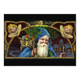 Vintage Santa Claus with Toys 3 Card