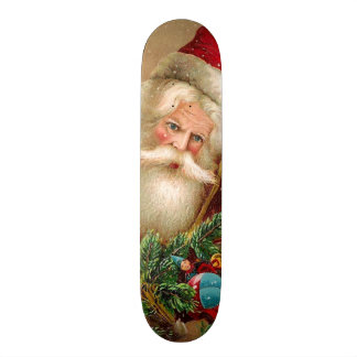 Vintage Santa Claus with Toys Skateboard Deck
