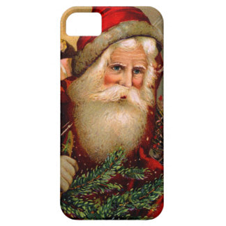 Vintage Santa Claus with Walking Stick iPhone 5 Cases