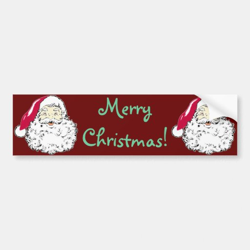 Vintage Santa Clause Christmas Decal Bumper Stickers
