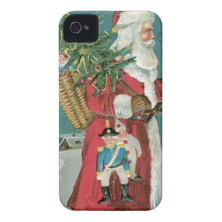 Vintage Santa Clause in the Snow iPhone 4 Case-Mate Cases