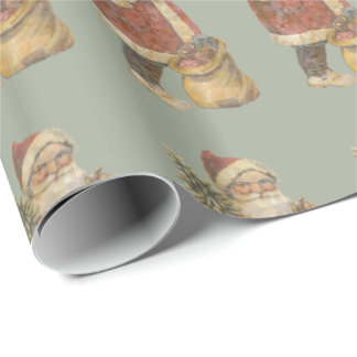 Vintage Santa Clause Wrapping Paper
