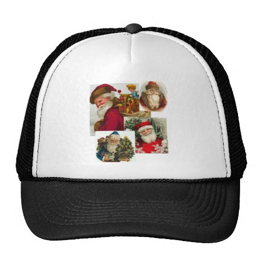 Vintage Santa Collage 1 Trucker Hat
