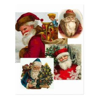 Vintage Santa Collage 1 Post Card