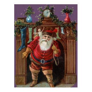 Vintage Santa Delivering Toys Postcard
