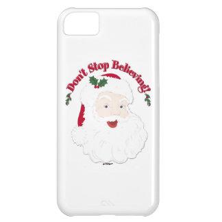 Vintage Santa Don't Stop Believing! iPhone 5C Case