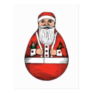 Vintage santa egg postcard