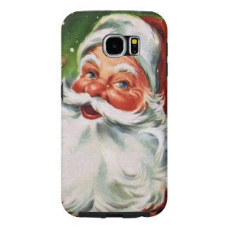 Vintage Santa Face 1 Samsung Galaxy S6 Cases