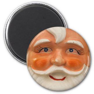 Vintage santa face refrigerator magnets