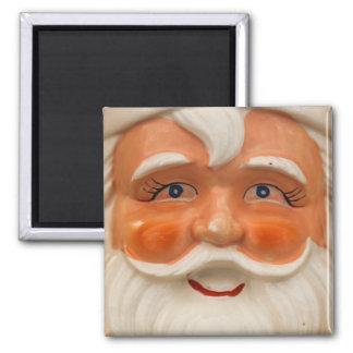 Vintage santa face square magnet