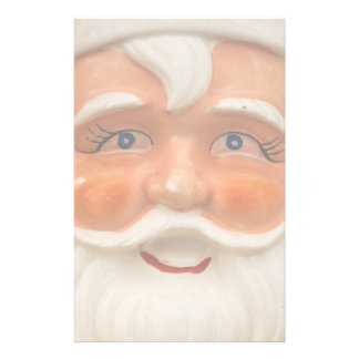 Vintage santa face custom stationery
