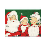 Vintage Santa Family Christmas